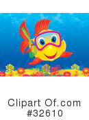 Royalty-Free (RF) Fish Clipart Illustration #32610