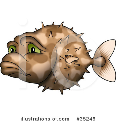 Royalty-Free (RF) Fish Clipart Illustration by dero - Stock Sample #35246