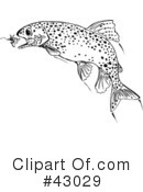 Fish Clipart #43029 by Dennis Holmes Designs