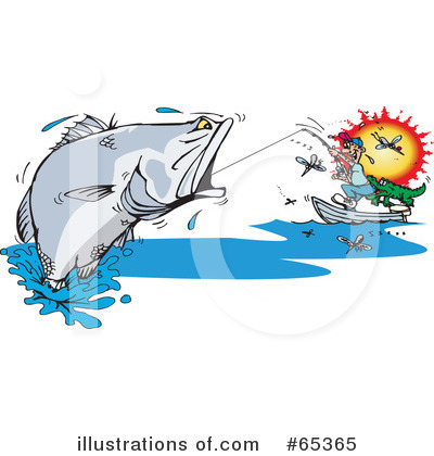 Barramundi Clipart #65365 by Dennis Holmes Designs