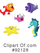 Royalty-Free (RF) Fish Clipart Illustration #92128