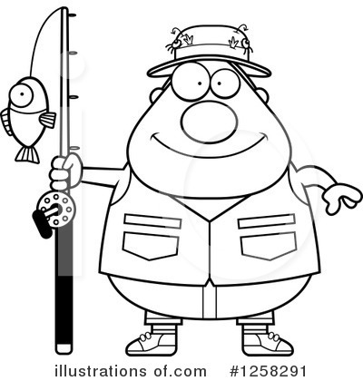 Fisherman Clipart #1258291 by Cory Thoman