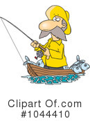 Royalty-Free (RF) fishing Clipart Illustration #1044410