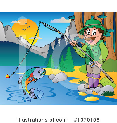Royalty-Free (RF) Fishing Clipart Illustration by visekart - Stock Sample #1070158