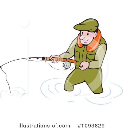 Fisherman Clipart #1093829 by patrimonio