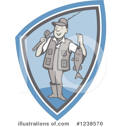Fisherman Clipart #1238570 by patrimonio