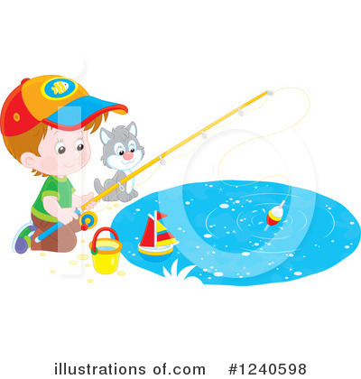 Fishing Clipart #1240598 by Alex Bannykh