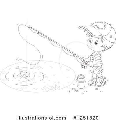 Fishing Clipart #1251820 by Alex Bannykh