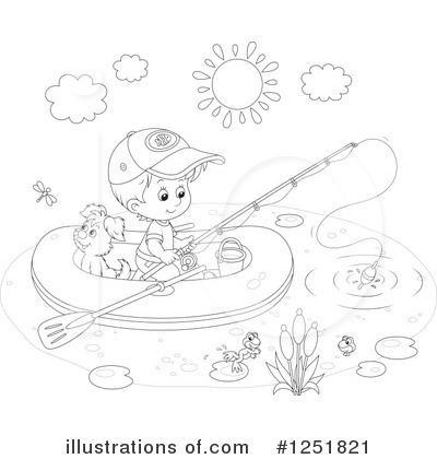 Fishing Clipart #1251821 by Alex Bannykh