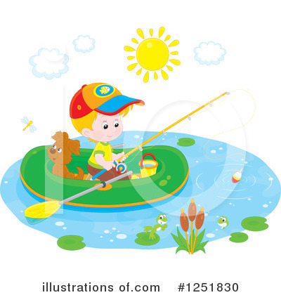 Fishing Clipart #1251830 by Alex Bannykh