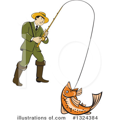 Fisherman Clipart #1324384 by patrimonio