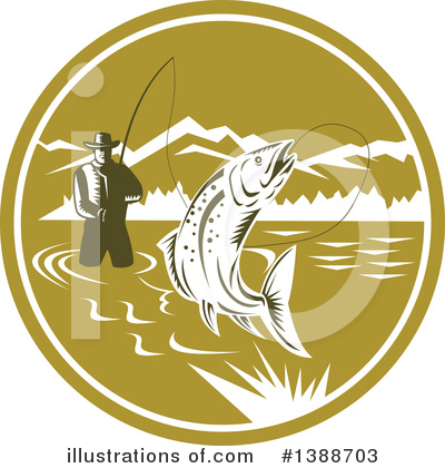 Fisherman Clipart #1388703 by patrimonio