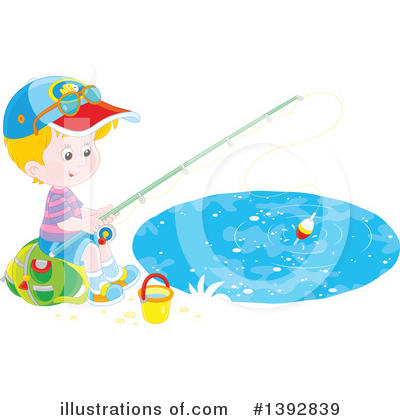 Fishing Clipart #1392839 by Alex Bannykh