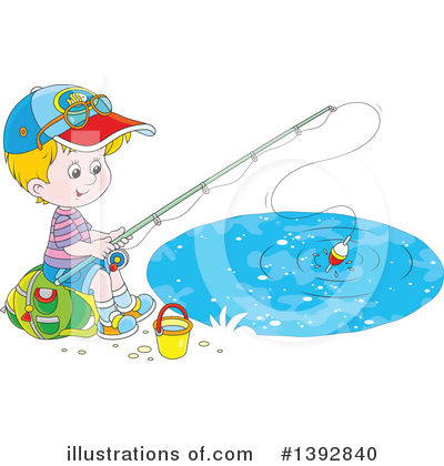 Fishing Clipart #1392840 by Alex Bannykh
