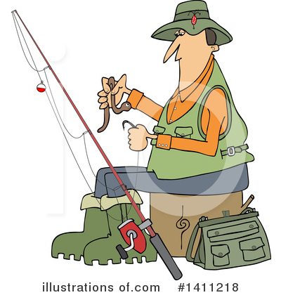 Fishing Clipart #1411218 by djart