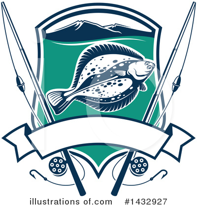 Flounder Clipart #1432927 by Vector Tradition SM