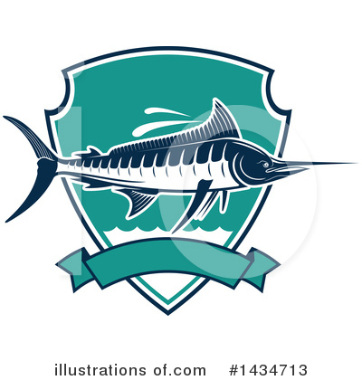 Marlin Clipart #1434713 by Vector Tradition SM