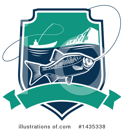 Salmon Clipart #1435338 by Vector Tradition SM