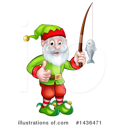 Christmas Elf Clipart #1436471 by AtStockIllustration