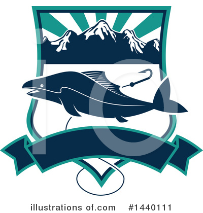 Salmon Clipart #1440111 by Vector Tradition SM