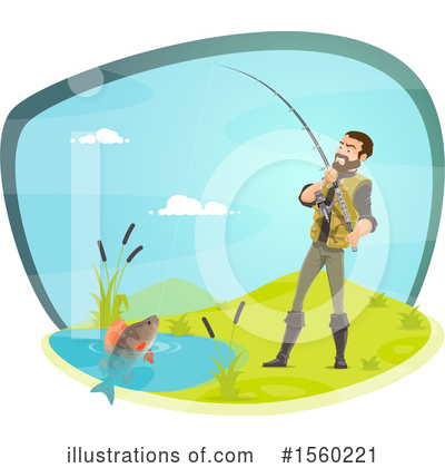 Royalty-Free (RF) Fishing Clipart Illustration by Vector Tradition SM - Stock Sample #1560221