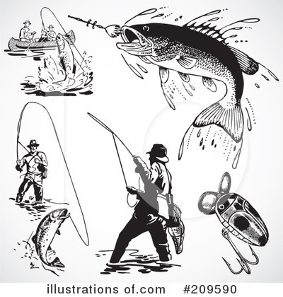 Fishing Clipart #209590 by BestVector