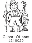 Royalty-Free (RF) Fishing Clipart Illustration #210020