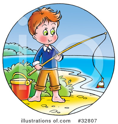 Fishing Clipart #32807 by Alex Bannykh