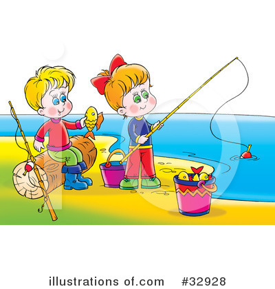 Fishing Clipart #32928 by Alex Bannykh