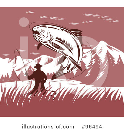 Royalty-Free (RF) Fishing Clipart Illustration by patrimonio - Stock Sample #96494