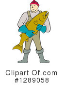 Royalty-Free (RF) Fishmonger Clipart Illustration #1289058