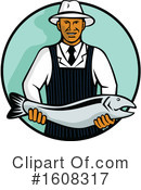 Fishmonger Clipart #1608317 by patrimonio