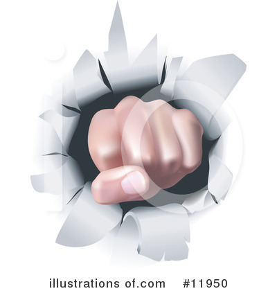Fist Clipart #11950 by AtStockIllustration