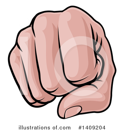 Fist Clipart #1409204 by AtStockIllustration