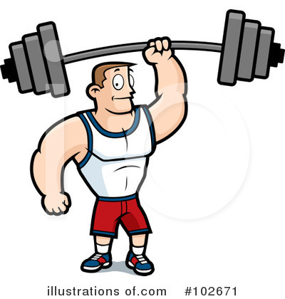 Bodybuilder Clipart #102671 by Cory Thoman