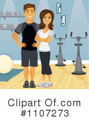 Royalty-Free (RF) Fitness Clipart Illustration #1107273