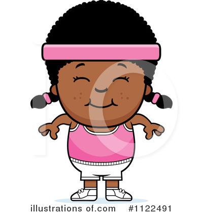 Black Girl Clipart #1122491 by Cory Thoman
