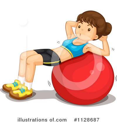 Royalty-Free (RF) Fitness Clipart Illustration by Graphics RF - Stock Sample #1128687