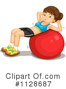 Royalty-Free (RF) Fitness Clipart Illustration #1128687