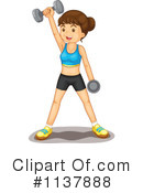 Royalty-Free (RF) Fitness Clipart Illustration #1137888