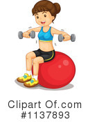 Royalty-Free (RF) Fitness Clipart Illustration #1137893