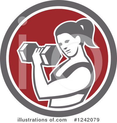 Royalty-Free (RF) Fitness Clipart Illustration by patrimonio - Stock Sample #1242079
