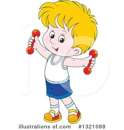 Weight Lifting Clipart #1321088 by Alex Bannykh