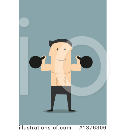 Bodybuilder Clipart #1376306 by Vector Tradition SM