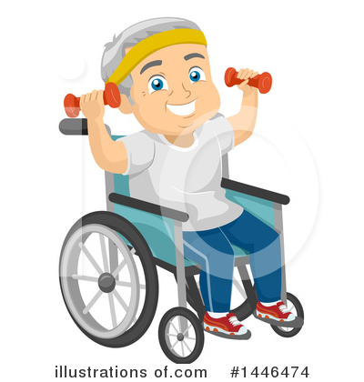 Wheelchair Clipart #1446474 by BNP Design Studio