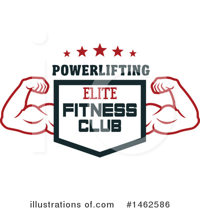 Bodybuilder Clipart #1462586 by Vector Tradition SM
