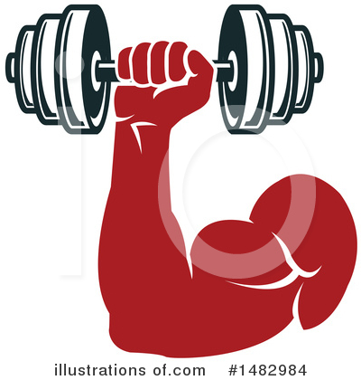 Bodybuilder Clipart #1482984 by Vector Tradition SM