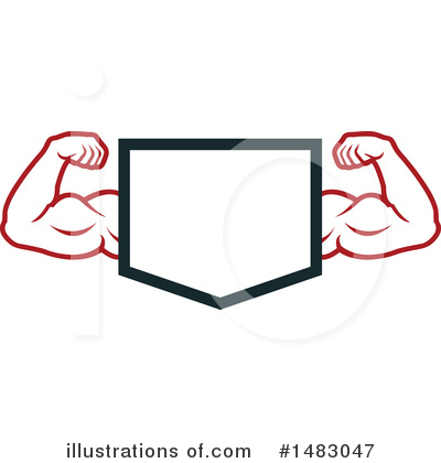 Bodybuilder Clipart #1483047 by Vector Tradition SM