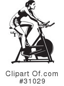Royalty-Free (RF) fitness Clipart Illustration #31029