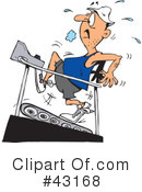 Royalty-Free (RF) fitness Clipart Illustration #43168